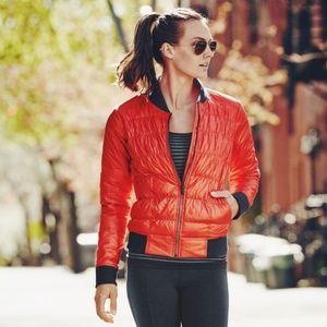 Athleta Orange/Red Down Jacket